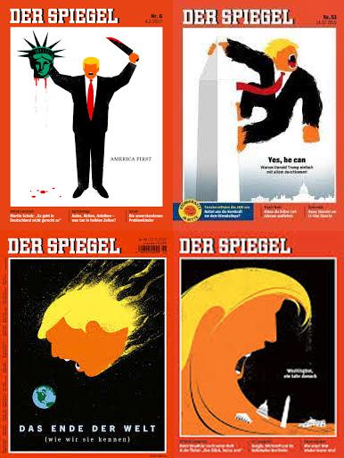 """Spiegel-Titel der Sorte """"Trump"""""""